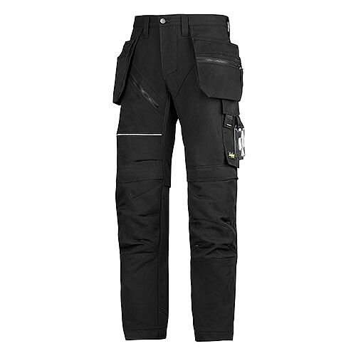 "6202 RuffWork, Work Trousers+ Holster Pockets Black\Black - 0404 Size 152 36""/35"""