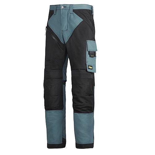 "6202 RuffWork, Work Trousers+ Holster Pockets Petrol/Black 5104 Size 70 60""/32"""