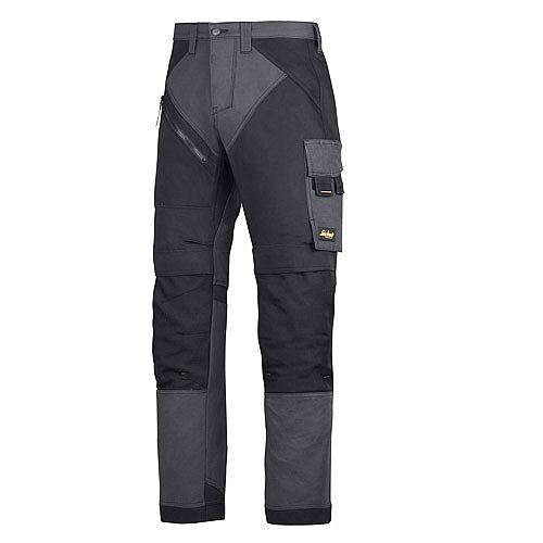 "6202 RuffWork, Work Trousers+ Holster Pockets Steel grey\Black - 5804 Size 152 36""/35"""
