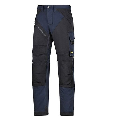 "6202 RuffWork, Work Trousers+ Holster Pockets Navy\Black - 9504 Size 152 36""/35"""