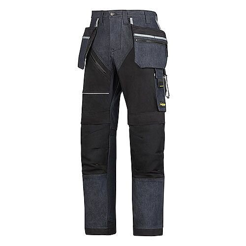 "6204 RuffWork Denim, Work Trousers+ Holster Pockets Denim\Black - 6504 Size 152 36""/35"""