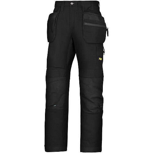 "Snickers 6206 LiteWork 37.5 Trousers Plus Holster Pockets Black W36"" L35"" Size 152 WW1"
