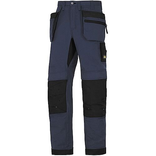"Snickers 6206 LiteWork 37.5 Trousers Plus Holster Pockets Navy - Black W36"" L35"" Size 152 WW1"