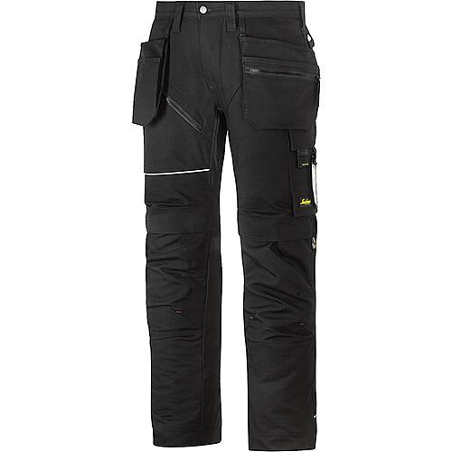 "Snickers 6215 RuffWork Cotton Trousers With Holster Pockets Black W36"" L35"" Size 152 WW1"