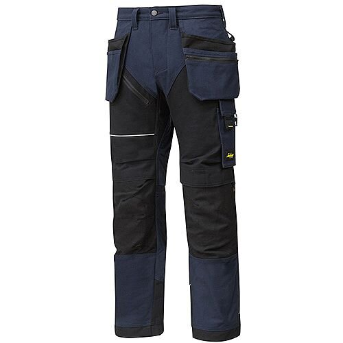 "Snickers 6215 RuffWork Cotton Trousers With Holster Pockets Navy - Black W36"" L35"" Size 152 WW1"