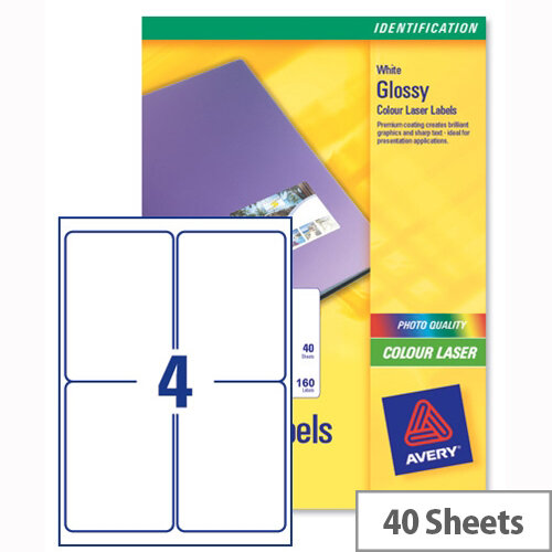 avery l7769 40 address labels colour 4 per sheet 139 x 99 1mm 160