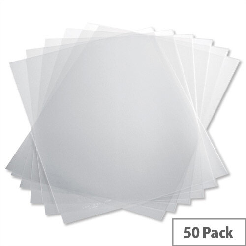 Durable Report Covers Polypropylene Capacity 100 Sheets A3 Fold to A4 Economy Clear 2939/19 Pack 50