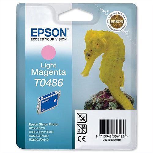 Epson Seahorse T0486 Light Magenta Ink Cartridge