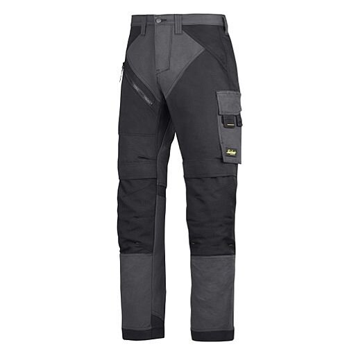 "6303 RuffWork, Work Trousers Steel grey\Black - 5804 Size 152 36""/35"""