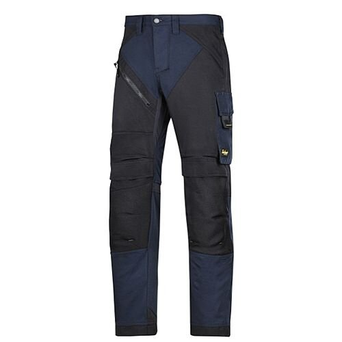 "6303 RuffWork, Work Trousers Navy\Black - 9504 Size 152 36""/35"""