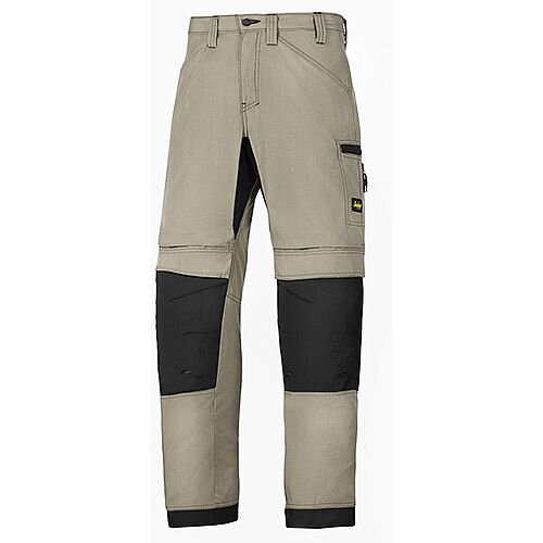 "Snickers 6307 LiteWork 37.5 Trousers Khaki - Black W36"" L35"" Size 152 WW1"