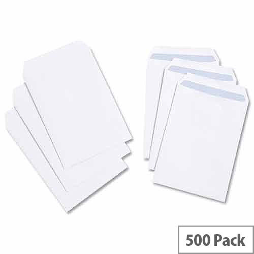 White Box C5 Envelopes Pocket Self Seal 90gsm White Pack 500