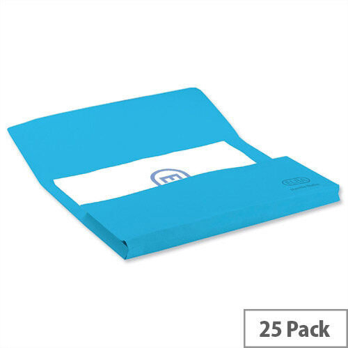 Elba Bright Manilla Foolscap Document Wallet Blue Pack of 25