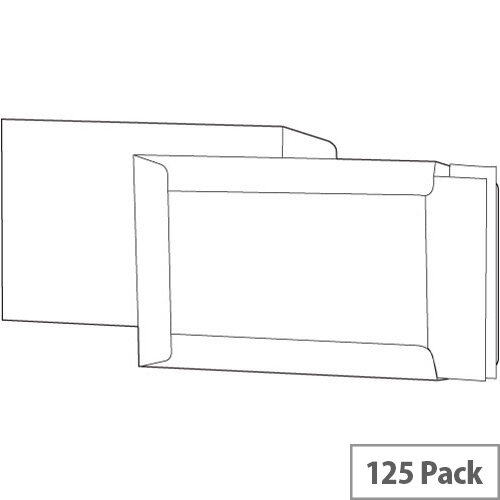 White Box Manilla C4 Envelopes Boardback Peel and Seal 115gsm (Pack 125)