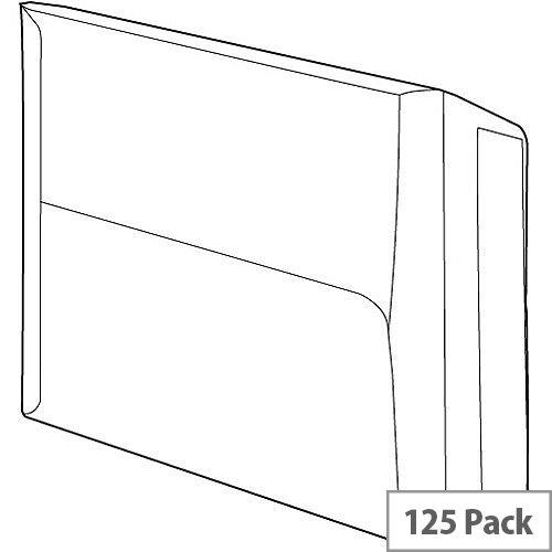 White Box Envelope C4 Manilla Gusset Peel and Seal 115gsm Pack 125