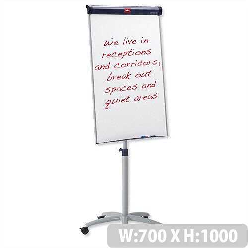 Nobo Barracuda Mobile Whiteboard Magnetic 1000 x 700mm