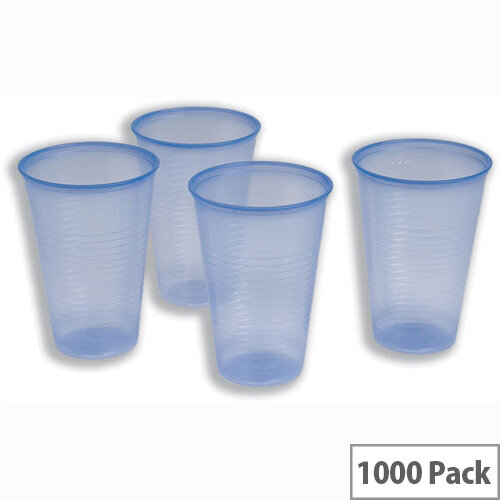Cold Drink Disposable Plastic Cups Blue 7oz/200ml [Pack of 1000]