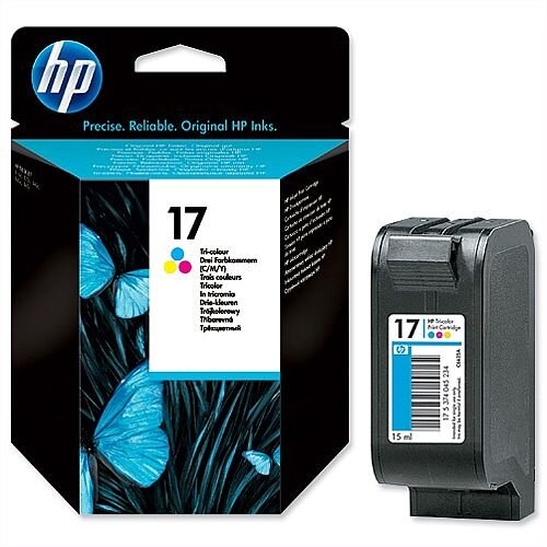 HP 17 Tri-colour Inkjet Cartridge C6625A