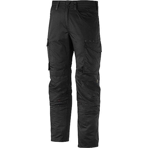 "Snickers 6801 Service Trousers Knee Guard Black Waist 35"" Inside leg 30"" Size 100"