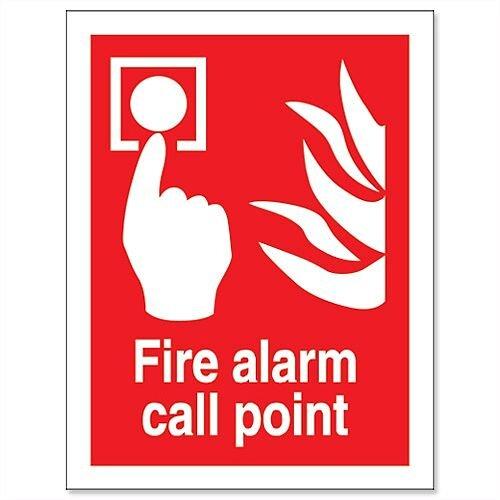 Stewart Superior Fire Alarm Call Point Self Adhesive Vinyl Sign 150x200mm