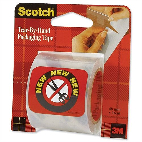 Scotch Tear By Hand Packing Tape 50mmx16m