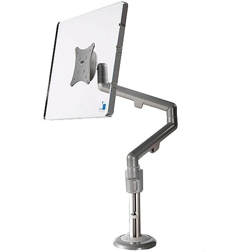 SINGLE Silver &Grey Motion Screen Monitor Arm VESA Mount Compatible 68P001