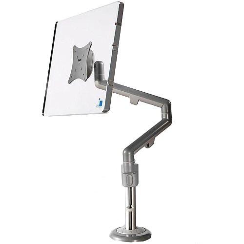 SINGLE White &Grey Motion Screen Monitor Arm VESA Mount Compatible 68P004