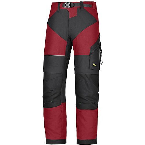 "Snickers 6903 FlexiWork Trousers Chill Red - Black W36"" L35"" Size 152 WW1"
