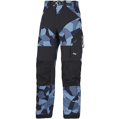 "Snickers 6903 FlexiWork Trousers Navy Camo - Black W36"" L35"" Size 152 WW1"