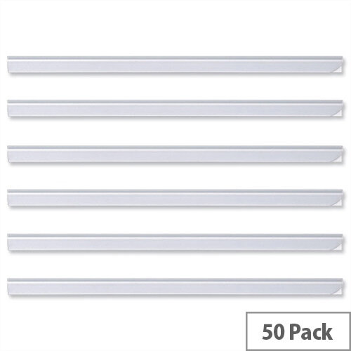 Durable Spine Bars for 60 Sheets A4 Capacity 6mm Clear 2931/19Pack 50