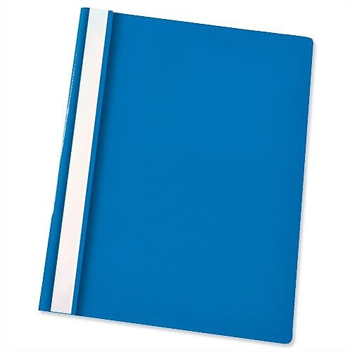 Esselte A4 Blue Report Flat File Lightweight Plastic Clear Front Pack 25
