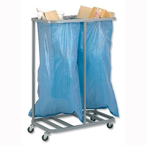 Versapak Sackholder Trolley Double for Mail W790xD400xH1115mm Silver Ref SH2-C 706331