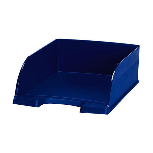 Plus Jumbo Blue Letter Tray Deep Sided Leitz