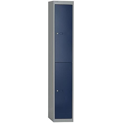 Bisley 2 Door Locker Steel Goose Grey-Blue CLK122-7339