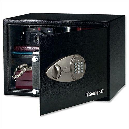 SentrySafe Master Lock Safe Black Laptop Size Electronic Lock Safe 34L