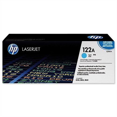 HP 122A Cyan LaserJet Toner Cartridge High Yield Q3961A