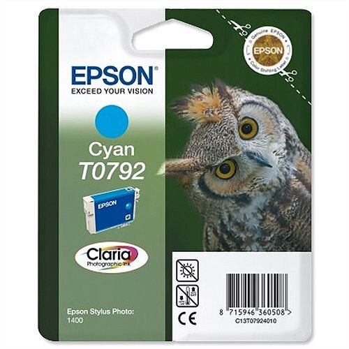 Epson Owl T0792 Cyan Ink Cartridge