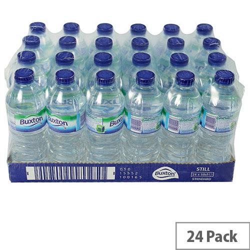 Buxton Natural Mineral Still Water Bottles 500ml Bottled Pack 24