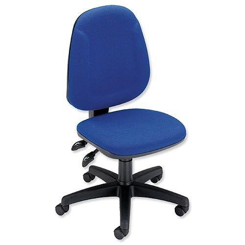 Trexus Plus Heavy Duty High Back Asynchronous Office Chair Blue