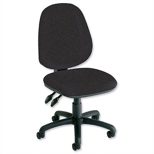 Trexus Plus Heavy Duty High Back Asynchronous Office Chair Charcoal, Suitable for 8 hours per day, Weight Capacity 150kg, Support for legs