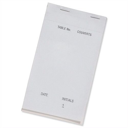 Prestige Duplicate White Large Duplicate Service Pads Carbonless Perforated 1-50 95mm x 165mm Pack 50