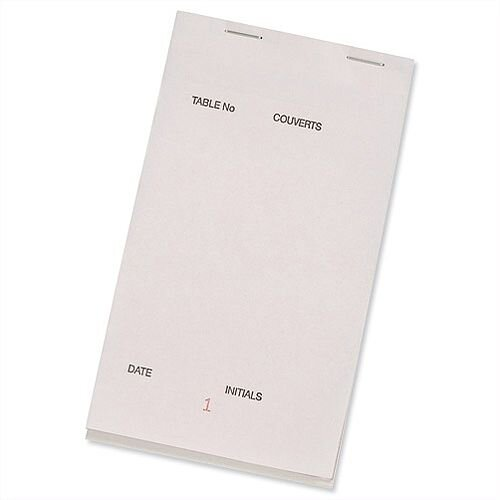 Prestige White Large Triplicate Service Pads Numbered 1-50 95mm x165mm Pack 50 PAD