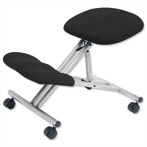 Kneeling Chair With Height &Angle Adjustment Steel Framed Charcoal Trexus
