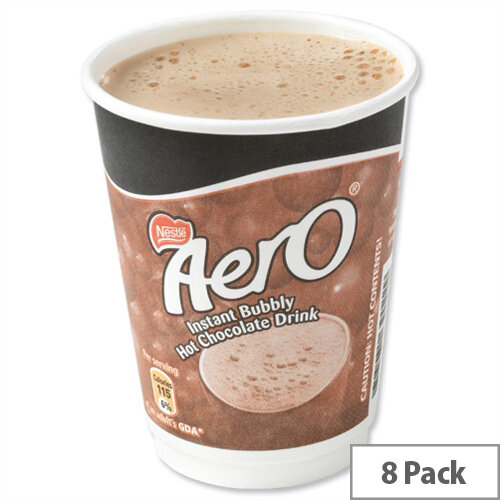 Nescafe &Go Aero Hot Chocolate Foil-sealed Cup for Drinks Machine Pack 8