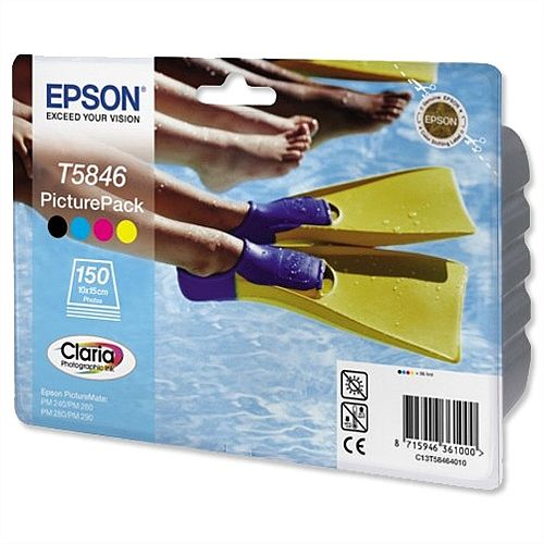 Epson T5846 Picture Pack Cartridge and Photo Paper