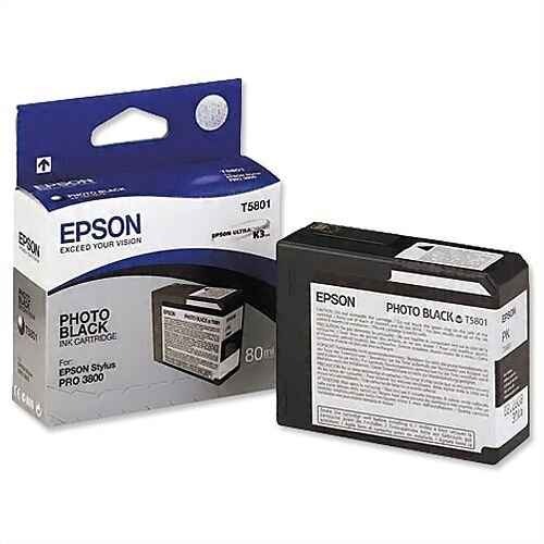 Epson T5801 Photo Black Ink Cartridge C13T580100