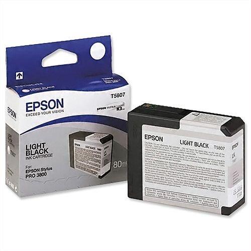 Epson T5807 Light Black Ink Cartridge C13T580700