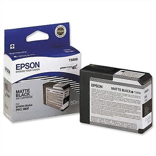 Epson T5808 Matte Black Ink Cartridge C13T580800