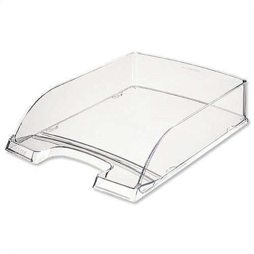 Plus Letter Tray High Sided Clear Leitz Pack of 5