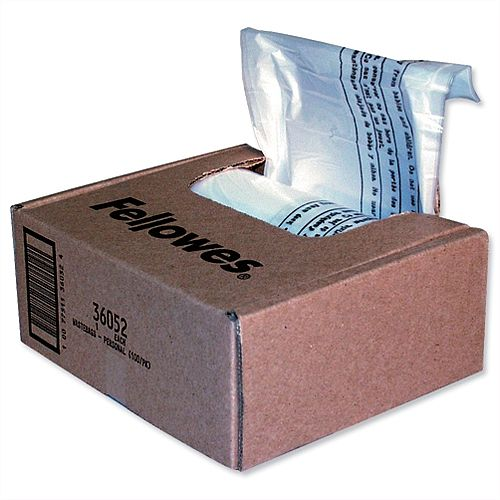 Fellowes Shredder Bags 23-28 Litre Pack 100